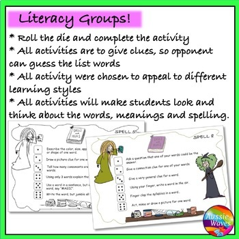 Spelling Game Literacy Center Activity Use individual lists, any words & grade