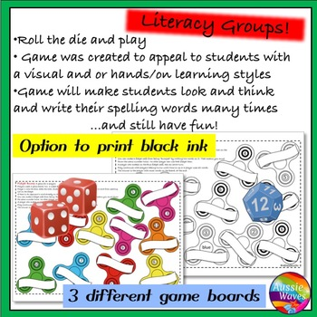 Fidget Spelling Game using individual lists a BUMP GAME