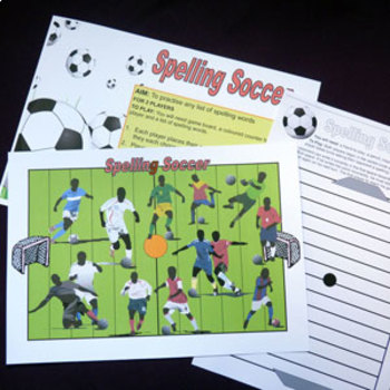 Spelling Game with a Soccer Theme
