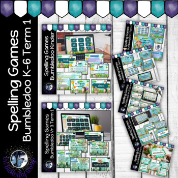 Spelling Games K- 6 Term 1 Bundle