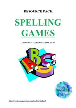 Spelling Games Resource Pack
