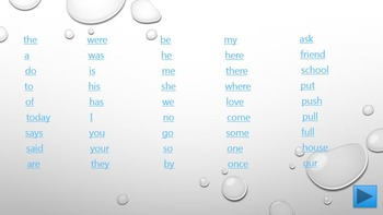 Spelling Games Y1 (Common Exception Words)