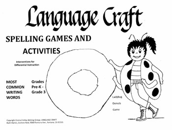 Spelling Games and Activities Pre K-3