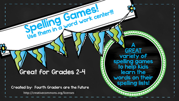 Spelling Games for Grades 2-4