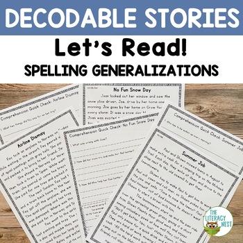 Spelling Generalizations Orton-Gillingham Based Stories