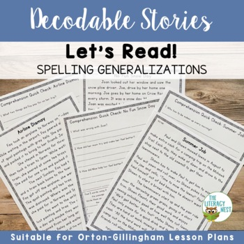Spelling Generalizations Decodable Reading Passages Orton-