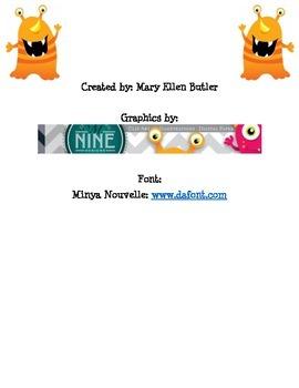 Monster Spelling Goal Sheet
