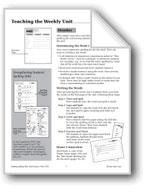 Spelling: Grade 1 Teacher Overview/Student Strategies/Dictation