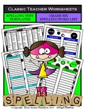 Spelling - Grade 6 (6th Grade) Spelling Word List & Spelling Test Templates