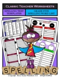 Spelling - Grade 5 (5th Grade) Spelling Word List & Spelling Test Templates