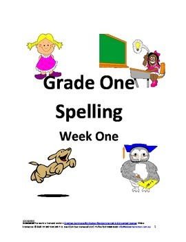 Spelling Grade One Lesson One