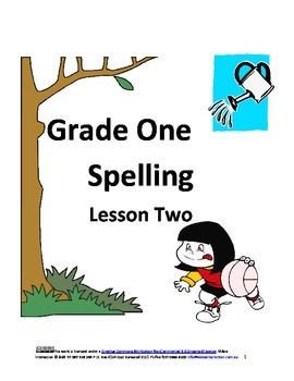 Spelling Grade One Lesson Two