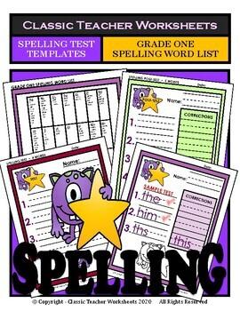 Spelling - Grade 1 (1st Grade) - Spelling Word List & Spel