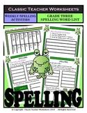 Spelling - Grade 3 (3rd Grade) - Weekly Spelling Activities for 5 or 8 Words