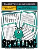 Spelling - Grade 2 (2nd Grade) - Weekly Spelling Activities for 5 or 8 Words