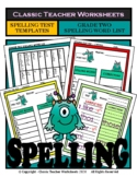 Spelling - Grade 2 (2nd Grade) - Spelling Word List & Spelling Test Templates