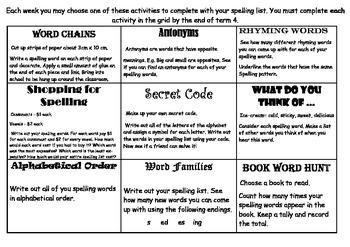 Spelling Grid