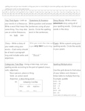 Spelling Grid Homework Activities