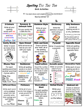Spelling Grids Activity__ Literacy Rotations__