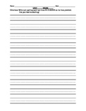 Spelling Handwriting Lines Worksheet