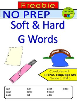 Spelling - Hard & Soft G Words
