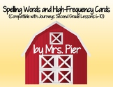 Spelling & High-Frequency Cards (Compatible w/ Journeys 2nd Grade Lessons 6-10)