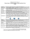 Spelling Homework 3