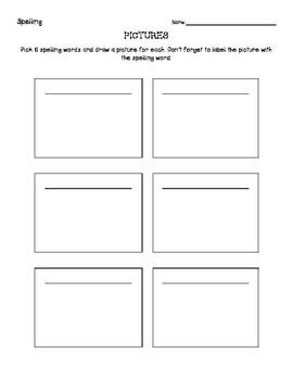 Spelling Homework- 4 ways