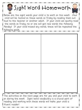 Spelling Homework Bundle