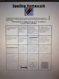Spelling Homework Choice Grid (2) Beginning and Mid Year Grids