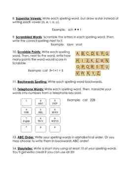 Spelling Homework Complete Resource