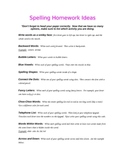 Spelling Homework Ideas for Elementary School