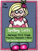 First Grade Spelling Lists (Journey's Homework, Practice & More!)