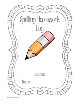 Spelling Homework Log