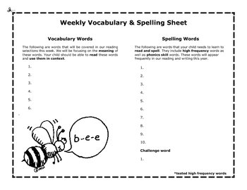 Spelling Homework Made Easy Pack