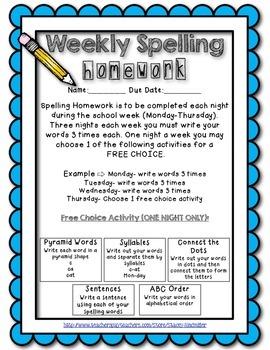 Spelling Homework {Memorization for Mastery}