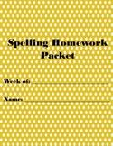Spelling Homework Packet #2