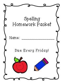 Spelling Homework Packet   CCSS.ELA-LITERACY.L.2.1  CCSS.ELA-LITERACY.L.2.2