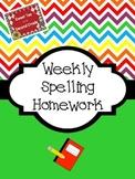 Spelling Homework Packets