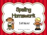 Spelling Homework Practice