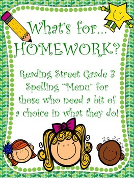 Spelling Homework Printouts