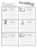 Spelling Homework- Short vowel words (a,e,i,o,u) Bonus- CV