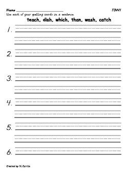 Spelling Homework Theme 3 Bundle Hougton Mifflin Grade 2