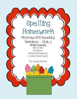 Spelling Homework~ Unit 3