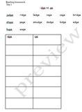 Spelling Homework -dge vs. -ge words