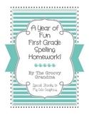 First Grade Spelling Homework for a Full Year!