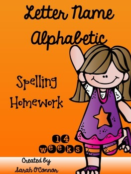 Spelling Homework for the Letter Name Alphabetic Stage