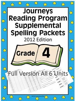 Spelling Homework to Supplemental Journeys Reading Grade 4