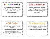 Spelling Idea Cards