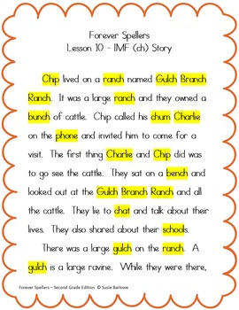 Spelling - Initial, Medial and Final ch - 2nd Grade